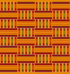 african seamless pattern cloth kente tribal vector image