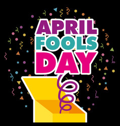 april fools day card vector image