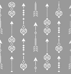 Aztec ethnic arrow ornament seamless vector