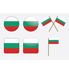 badges with flag of Bulgaria vector image