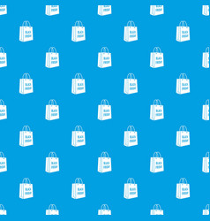 bag black friday pattern seamless blue vector image