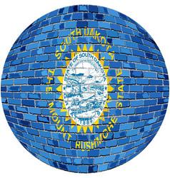 Ball with south dakota flag vector