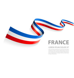 Banner with french flag colors vector
