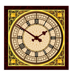 Big ben at clock face vector