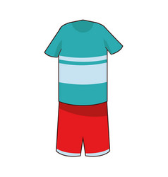 Boy outfit icon cartoon isolated vector