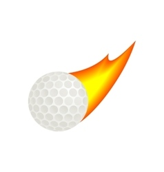 Burning golf ball isometric 3d icon vector image