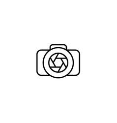 Camera graphic design with monoline style vector