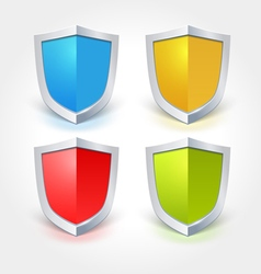 Colorful shield icons vector