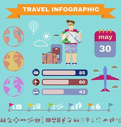 Colorful travel infographics vector image