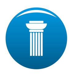 Continuous column icon blue vector