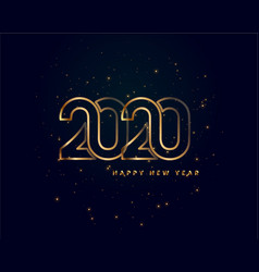 creative 2020 happy new year golden background vector image
