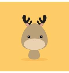 Cute Cartoon Wild deer vector image