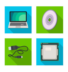 design of laptop and device logo vector image