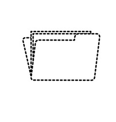 Dotted shape folder file with important business vector