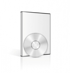 dvd case vector image