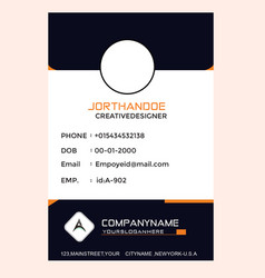 Employee card vector