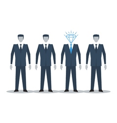 Excellent candidate concept vector image