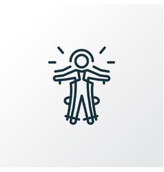 exoskeleton icon line symbol premium quality vector image