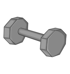 Fitness dumbbell icon gray monochrome style vector image