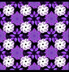 Floral seamless pattern background flowers on vector