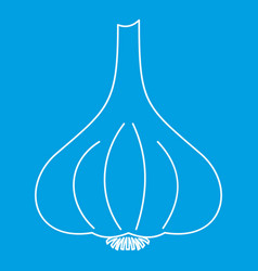 Garlic vegetable icon outline style vector