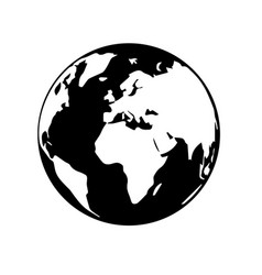 globe earth 06 vector image