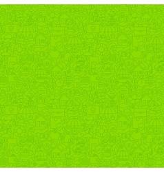 Green Thin Line Insurance Seamless Pattern vector