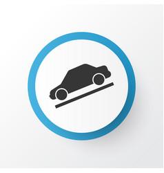 Hill descent icon symbol premium quality isolated vector