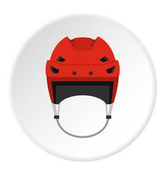 hockey helmet icon circle vector image