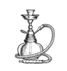 hookah lounge bar relax equipment vintage vector image