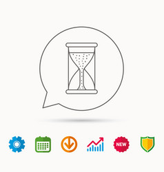 hourglass icon sand time starting sign vector image
