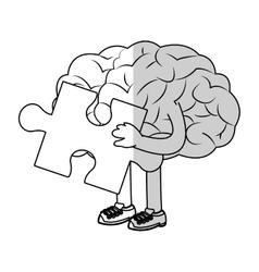 human brain design vector image