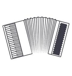 Isolated accordion instrument design vector