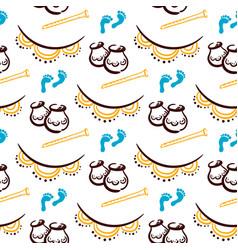 Janmashtami festival seamless pattern vector