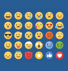 Mixed emoji set vector