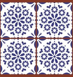 moroccan or turkish tile seamless design vector image