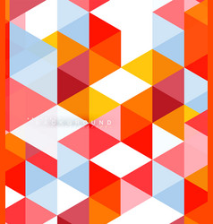 Multicolored triangles abstract background mosaic vector
