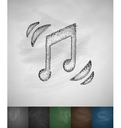 Music icon Hand drawn vector