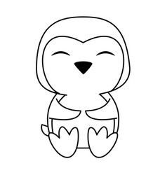 Penguin cute animal cartoon icon image vector