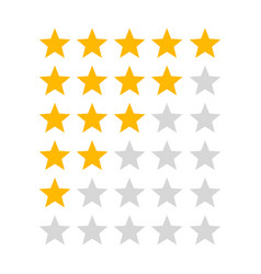 Product rating or customer review gold stars vector