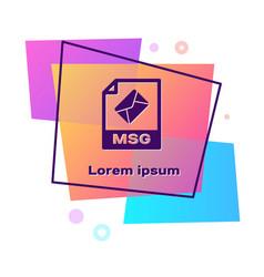 Purple msg file document download msg button icon vector