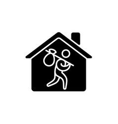 refugee shelter black glyph icon vector image