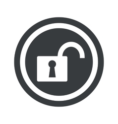 Round black unlocked sign vector image