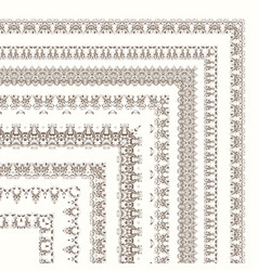 set ornate frames and borders vector image