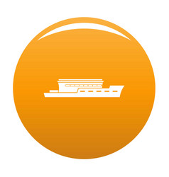 ship river icon orange vector image
