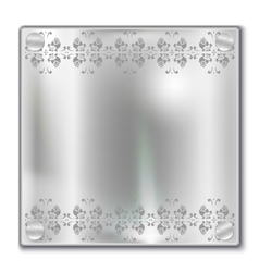Silver plate vector