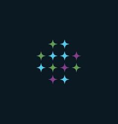 sparkle star logo vector image