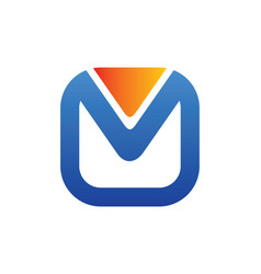 Square letter m logo vector