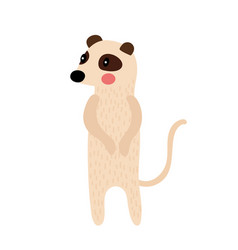 Standing meerkat animal cartoon character vector