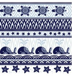 Stripe seamless pattern with sea underwater vector